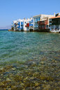 Little Venice in Mykonos, Greece Royalty Free Stock Photo