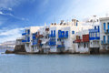 Little venice of mykonos island greece Stock Photos