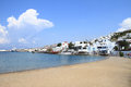 Little venice of mykonos island greece Stock Images
