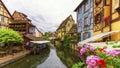 Little Venice, petite Venise, in Colmar, Alsace, France Royalty Free Stock Photo
