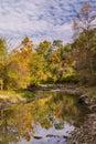 The little vermillion beginning of autumn river illinois Royalty Free Stock Photography