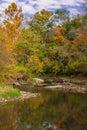 The little vermillion beginning of autumn river illinois Royalty Free Stock Photo