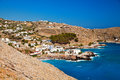 Little village Chora Sfakion Stock Photo