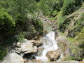 Little waterfal grenoble waterfall from the mountain in in france in europe Stock Photography