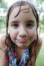 Little Wet Girl Royalty Free Stock Photo