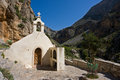Little white chapel a in the mountains of crete greece Royalty Free Stock Photos