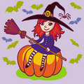 Little Witch. Stock Photography