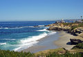 Littoral de la Californie Images libres de droits