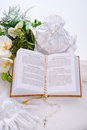 Liturgical prayers the bible is a canonical collection of texts that are considered sacred Stock Images
