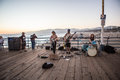 Live band at Santa Monica Pier Royalty Free Stock Photo