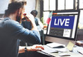 Live Broadcast Media News Online Concept Royalty Free Stock Photo