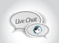 Live chat message communication concept illustration design over white Stock Images