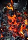 Live coals closeup of natural background Stock Photo