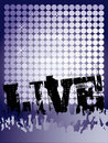 Live Concert Poster Royalty Free Stock Photos