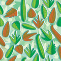Live Dead Leaves Seamless Pattern_eps Stock Photos