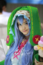 Live girl dressed as cartoon on anime comics fairs in amoy city china Stock Images