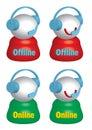 Live Help Offline Online_eps Royalty Free Stock Image