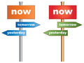 Live the moment now yesterday tomorrow conceptual signboard about time management vector eps Stock Photo