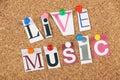 Live music Foto de Stock