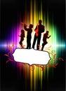 Live music band no quadro tropical abstrato com espectro Fotos de Stock Royalty Free