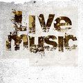 Live music grunge background Royalty Free Stock Photo