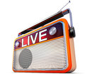 Live radio d illustration of a with the icon Royalty Free Stock Image
