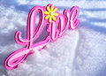 Live in the snow Royalty Free Stock Photos