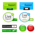 Live support Stock Images
