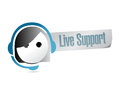Live support illustration design over a white background Royalty Free Stock Photography