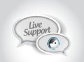 Live support message communication concept illustration design over white Stock Photo