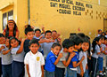 Lively Students in Rural Guatemala Royalty Free Stock Photo