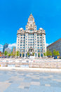 Liver building iconic in liverpool england uk Stock Photo