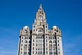 Liver Buildings Liverpool waterfront Stock Images