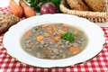 Liver spaetzle soup Stock Photos