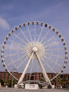 Liverpool big wheel the of with the albert dock behind merseyside uk Stock Photos
