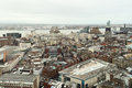 Liverpool city center birdseye view of uk Royalty Free Stock Photography