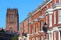 Liverpool city in merseyside county of north west england uk cityscape with cathedral Stock Photo