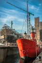 Liverpool Dock Construction Royalty Free Stock Photo