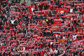 Liverpool fans celebrating Carling Cup Royalty Free Stock Photo