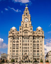 Liverpool Liver Building Royalty Free Stock Photo
