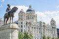 Liverpool liver royal building Royalty Free Stock Photo