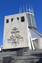 Liverpool metropolitan cathedral the modern exterior of Stock Images