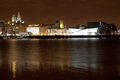 Liverpool night cityscape Royalty Free Stock Image