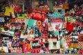 Liverpool Poster at Anfield stadium Stock Photos