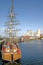 Liverpool Ships in Dock Royalty Free Stock Photography