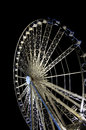 Liverpool wheel at night in lights Royalty Free Stock Image