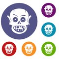 Living dead icons set Royalty Free Stock Photo