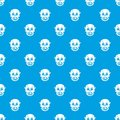 Living dead pattern seamless blue Royalty Free Stock Photo