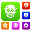 Living dead set color collection Royalty Free Stock Photo