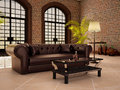 Living in a loft style with large arched windows.